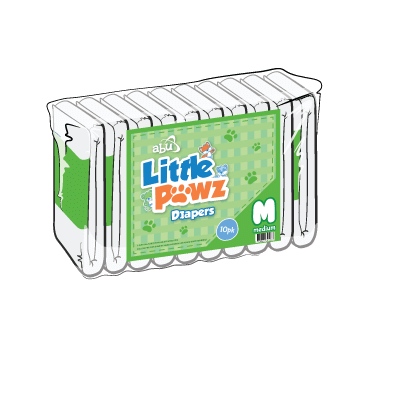Back Diapers Little Pawz