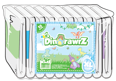 ABUniverse DinoRawrZ Diapers