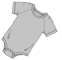 ABUniverse Active DiaperSuit Grey
